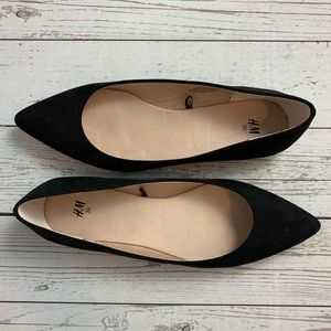 NEW H&M black flats